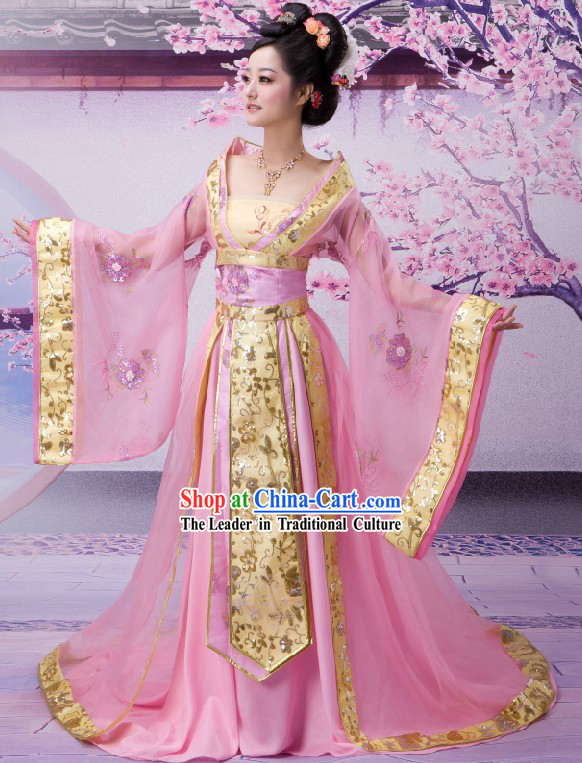 Ancient Chinese Palace Empress Costumes Complete Set for Women