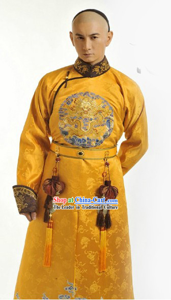 Ancient Chinese Emperor Clothes Complete Set