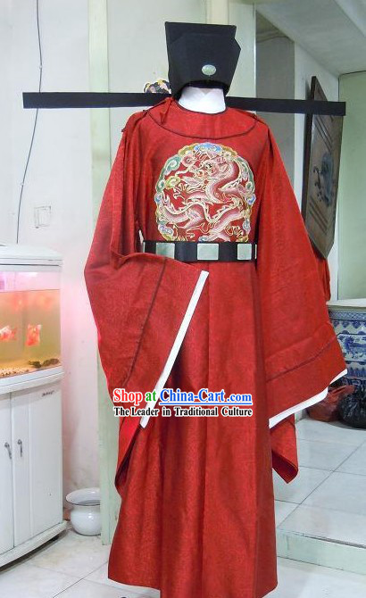 Song Dynasty Emperor Clothing and Hat for Men