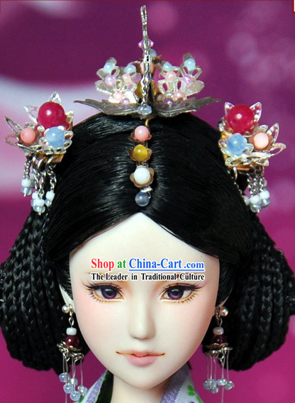 Ancient Chinese Queen Hair Accessories and Wig