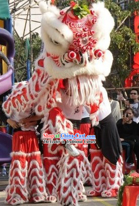 Happy Event Celebration or Display Lion Dance Costume Complete Set