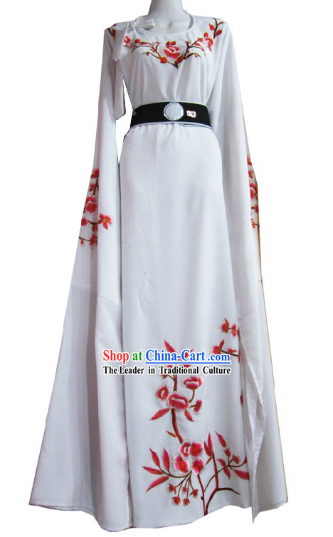 Chinese Shaosing Opera White Xiao Sheng Costume for Men