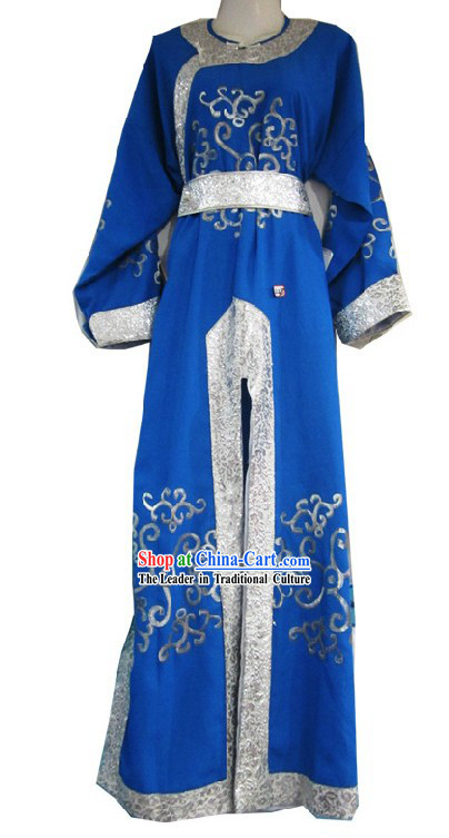 Chinese Shaosing Opera Desert Prince Blue Costume for Men