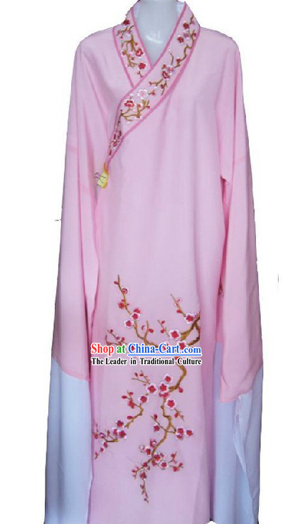 Chinese Opera Embroidered Plum Blossom Water Sleeve Dance Costumes for Men
