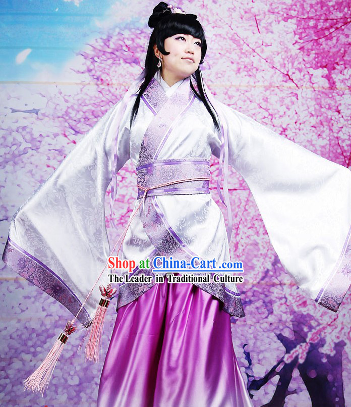 Ancient Chinese Gradual Change Silk Robe Clothing for Women