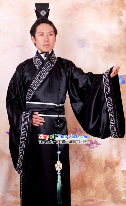Ancient Chinese Government Official Clothing and Coronet for Men