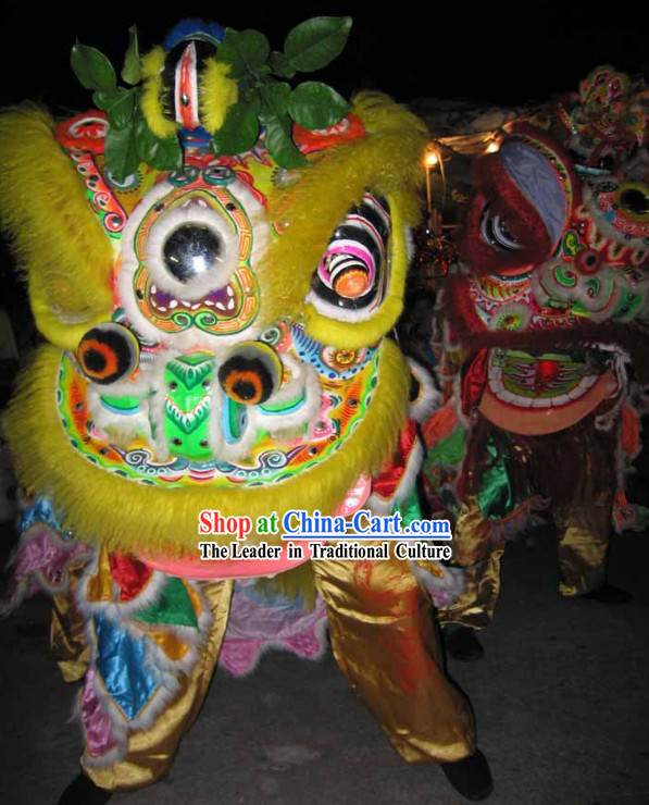 Happy Chinese New Year Lion Dancing Costumes Complete Sets