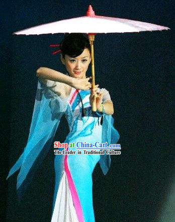 Traditional Chinese Xiao Cheng Yu Xiang Umbrella Dance Costumes for Women