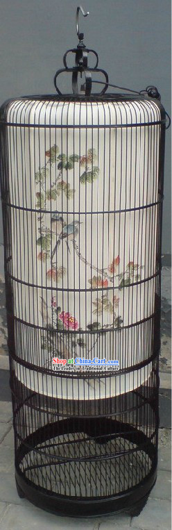 Ancient Antique Style Hand Painted Birdcage Lantern Set