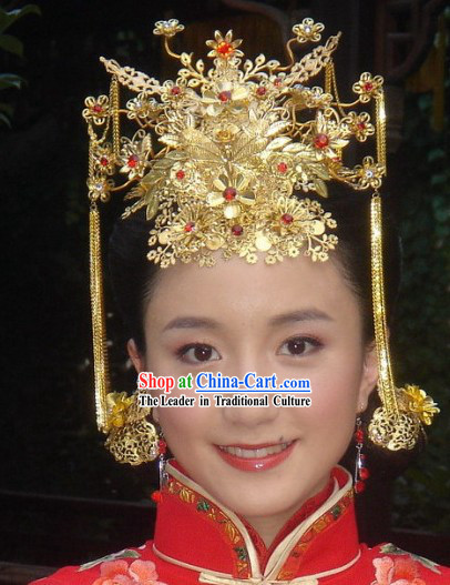 Stunning Chinese Wedding Phoenix Crown for Brides