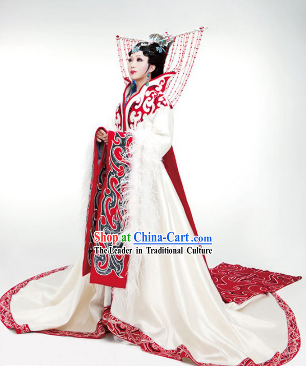 Ancient Chinese Han Dynasty Period Four Beauties Wang Zhaojun Costumes and Hair Accessories Complete Set for Women