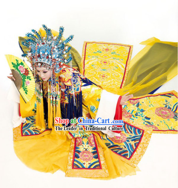 Ancient Chinese Four Beauties Yang Guifei Costumes and Hair Accessories Complete Set