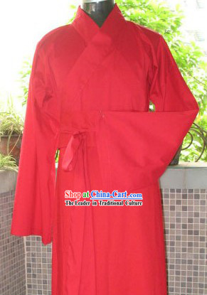 Ancient Chinese Plain Red Wedding Dress for Men