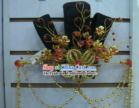 Ancient Chinese Palace Dance Wig and Hair Accessories