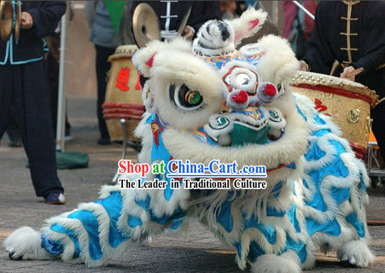Grand Opening Blue Underground Lion Dance Costumes Complete Set