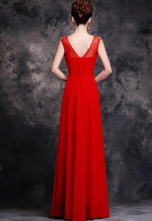 Stunning Chinese Celebrity Red Wedding Dress