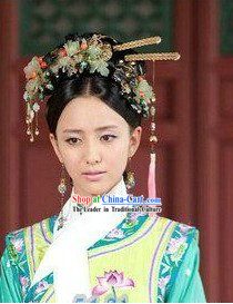 Ancient Chinese Qing Palace Princess Hair Accessories Complete Set