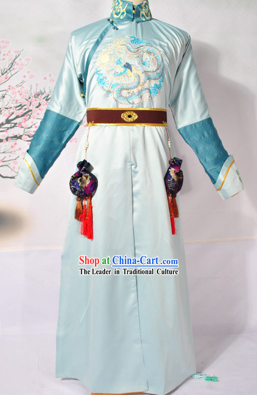 Qing Dynasty Imperial Palace Prince Embroidered Dragon Costumes