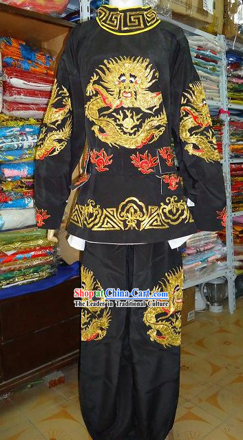 Ancient Chinese Mask Changing Black Dragon Costumes for Men