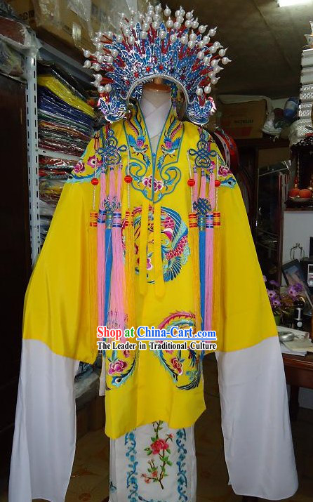 Chinese Classical Opera Phoenix Empress Costumes and Phoenix Coronet