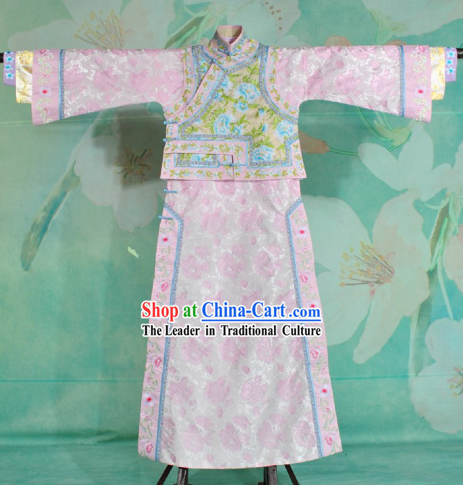 Qing Dynasty Princess Imperial Embroidered Clothing Complete Set