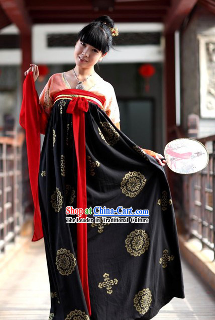 Ancient Chinese Tang Dynasty Princess Costume for Women