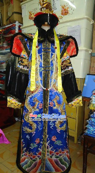 Chinese Qing Dynasty Empress Costumes and Phoenix Crown Complete Set