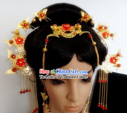 Ancient Chinese Handmade Hair Accessories Complete Set for Women