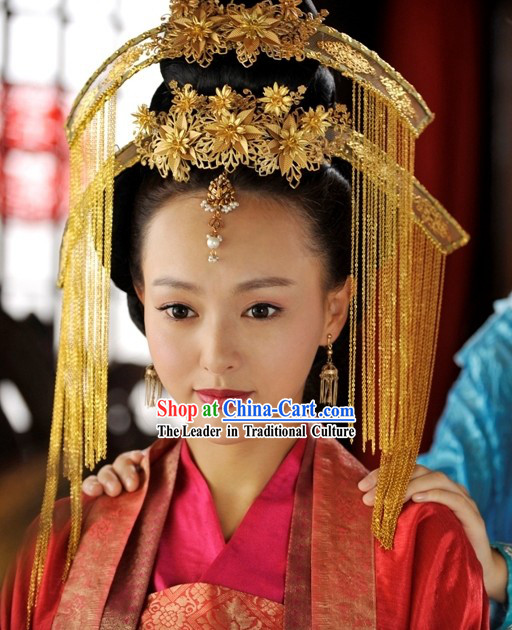 Ancient Chinese Wedding Hair Accessories Complete Set for Brides