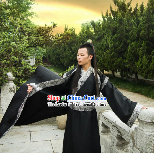 Ancient Chinese Black Hanfu Costumes for Men