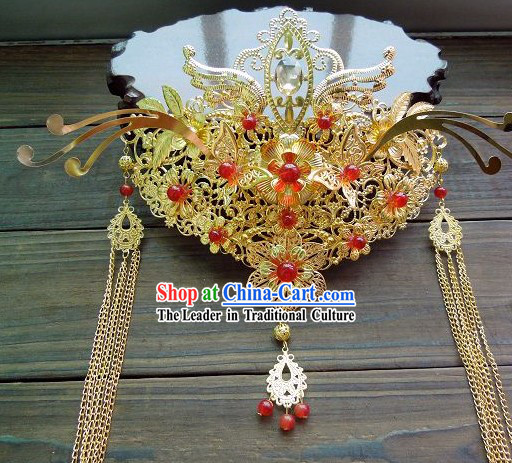 Ancient Chinese Style Handmade Bride Phoenix Crown