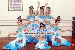 Dunhuang Dance Costumes and Head Pieces for Women