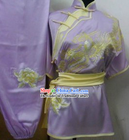 Chinese Classical Embroidered Phoenix Tai Chi Uniform