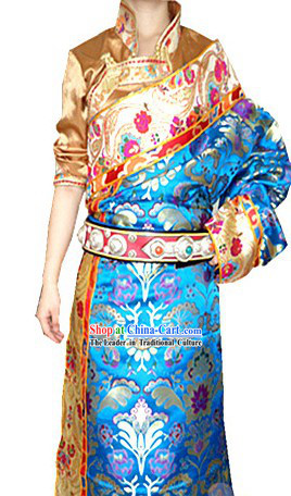 Traditional Chinese Tibetan Clothes Complete Set for Women