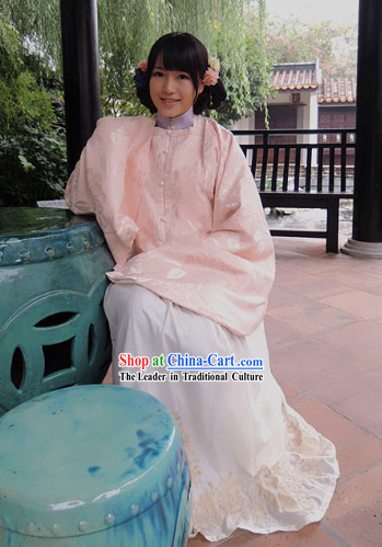 Ming Dynasty Princess Embroidered Long Jacket and Skirt Clothing Complete Set