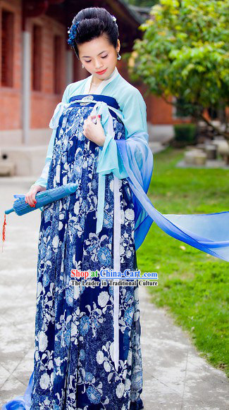 Chinese Classical Tang Dynasty Lady Costume Complete Set