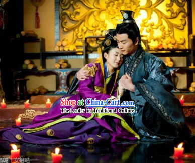 Ancient Chinese Lovers Outfit for Men and Women