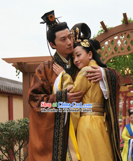 Ancient Chinese Couple Outfit for Men and Women