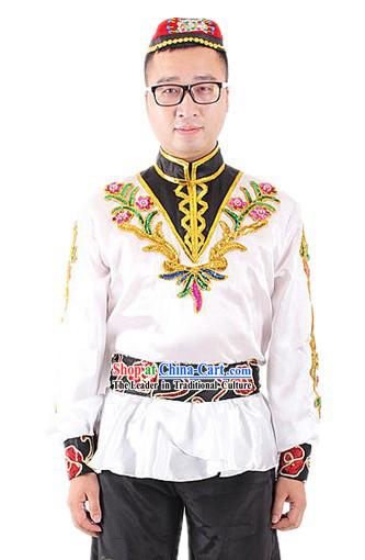 Traditional Chinese Xinjiang Uyghur Nationality Clothes for Men