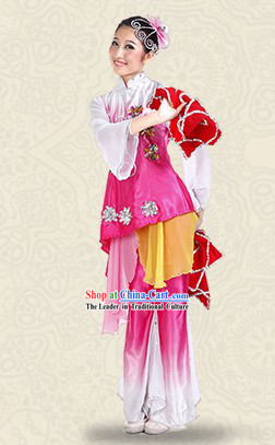 Chinese Classical Dance Costume and Headpieces for Women