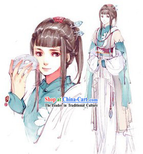Ancient Chinese Cosplay Custom Made Costumes Complete Set