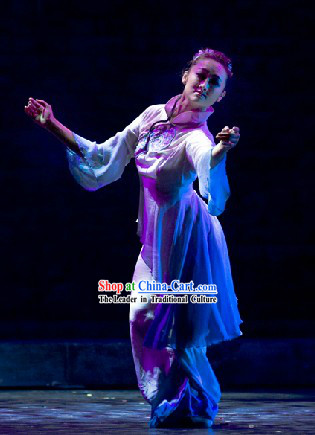 Traditional Chinese Classical Dance Costumes Complete Set for Women