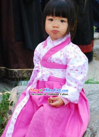 Traditional Chinese Hanfu Clothes Complete Set for Kids
