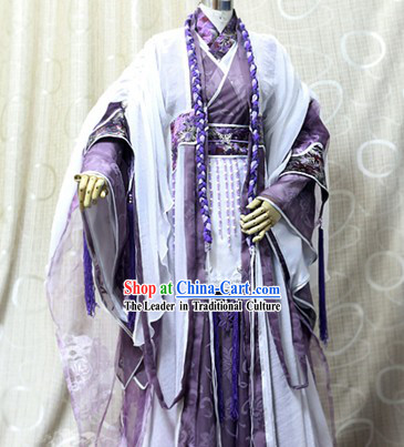 Ancient Chinese Prince Cosplay Costumes Complete Set for Men