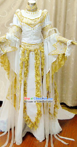 Ancient Chinese Princess Clothing Complete Set with Long Trail