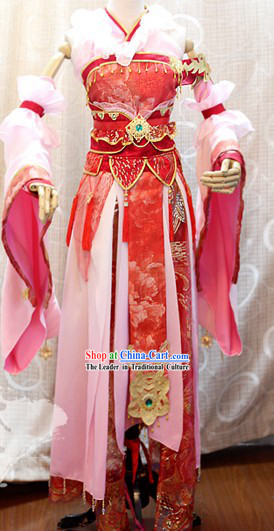 Ancient Chinese Imperial Palace Princess Cosplay Clothing Complete Set