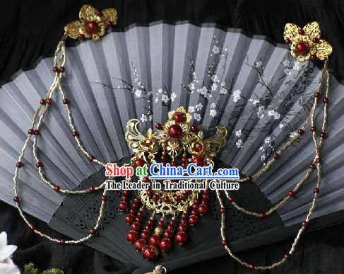 Ancient Chinese Handmade Hair Accessories with Long Tassels