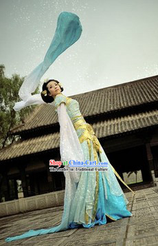 Top Quality Long Sleeve Hanfu Dance Costumes and Accessories Complete Set for Women