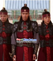 Ancient Korean Imperial Palace General Armor Costumes Complete Set for Men