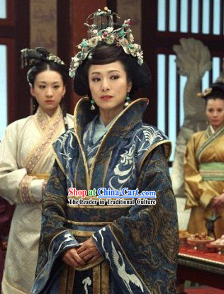 Phoenix and Peony Television Drama High Collar Empress Costumes Complete Set